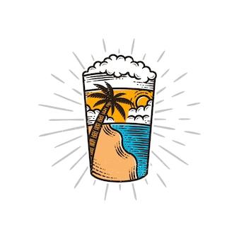Illustrazione di vibrazioni estive di birra