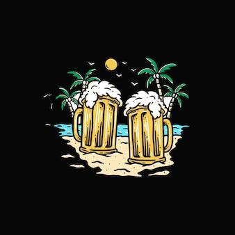 Birre in spiaggia premium