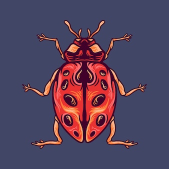Illustrazione degli animali dello scarabeo
