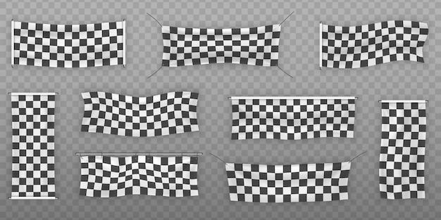 Principianti, striscioni in vinile con finiture e scacchi con pieghe