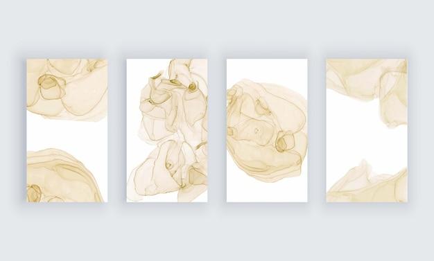 Sfondi inchiostro alcol acquerello beige per banner di storie di social media