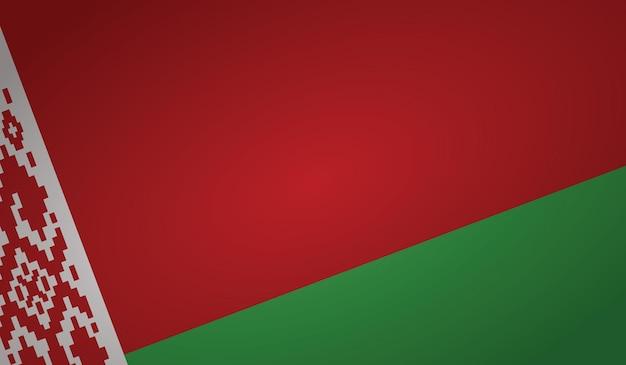 Forma dell'angolo della bandiera della bielorussia