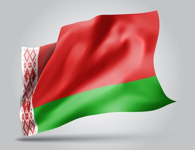 Bielorussia, vettore 3d bandiera isolato su sfondo bianco Vettore Premium