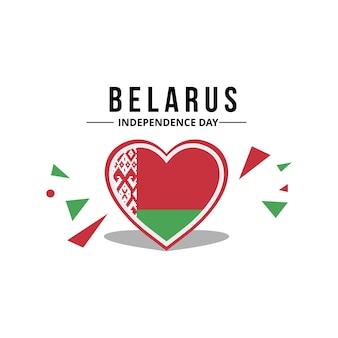 Vettore di bandiera bielorussa con colore originale