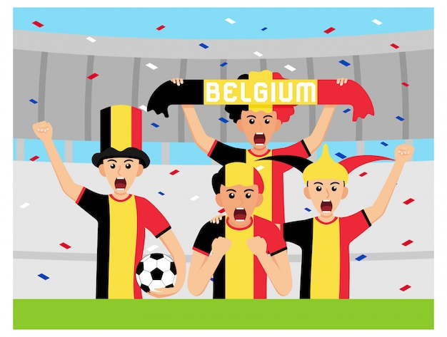 Sostenitori del belgio in design piatto