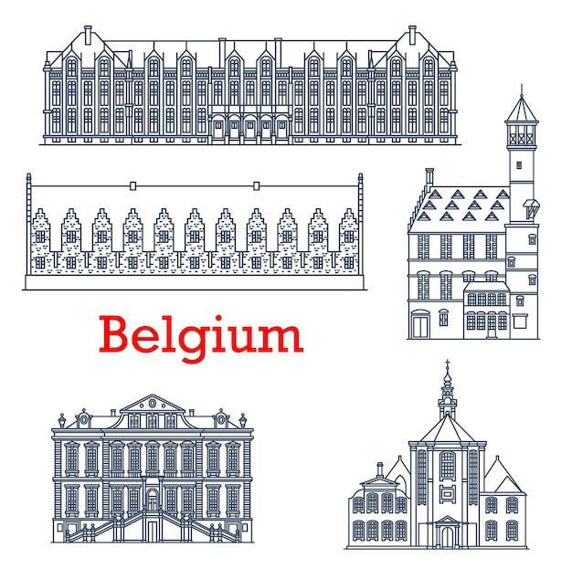 Architettura del punto di riferimento di viaggio del belgio