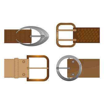 Accessori di abbigliamento unisex in metallo con fibbie per cinture indossati sulla cintura