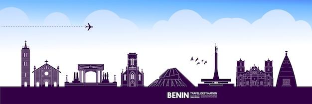 Benin destinazione di viaggio grande illustrazione