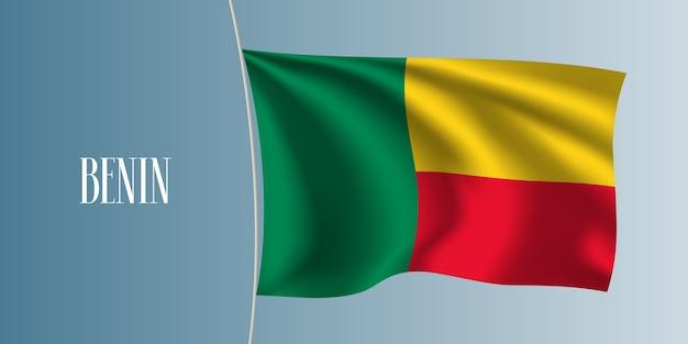 Benin sventolando bandiera. elemento di design iconico come bandiera nazionale