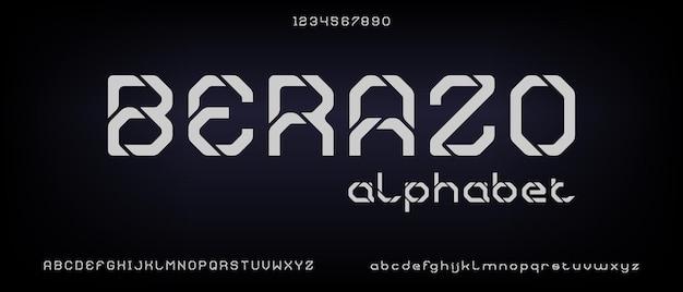 Berazo, moderno alfabeto creativo con modello in stile urbano