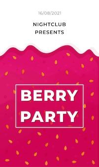 Manifesto festa di bacche