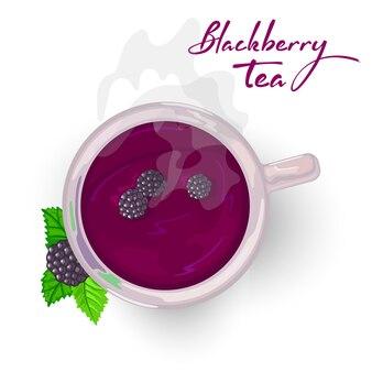 Dolce relax ai frutti di bosco, tè calmante con more, sciroppo o marmellata