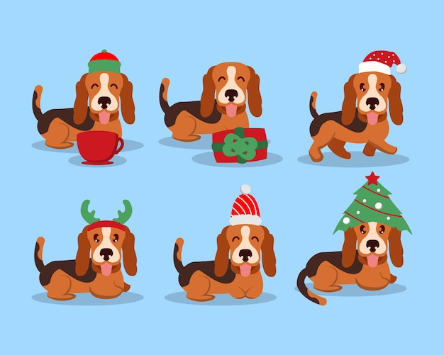 Collezione di set natalizi di bessel hound