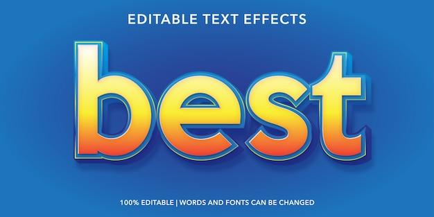 Miglior effetto di testo modificabile in stile 3d