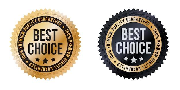 Etichetta migliore scelta, set di adesivi di qualità premium garantita