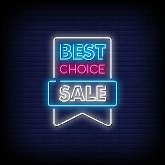 Testo di stile di insegne al neon di vendita migliore scelta