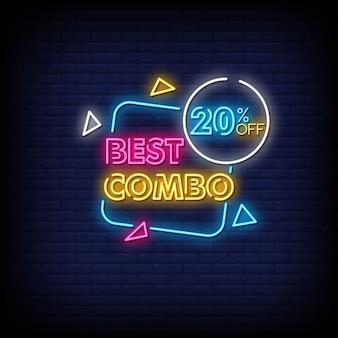 Miglior testo combinato in stile insegne al neon