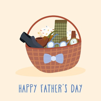 Migliore carta di papà con accessori nel cestino
