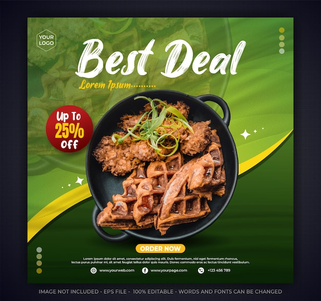 Best deal salad promozione social media instagram post banner template