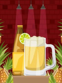 Bevanda migliore con design illustrazione vettoriale alcolico tazza