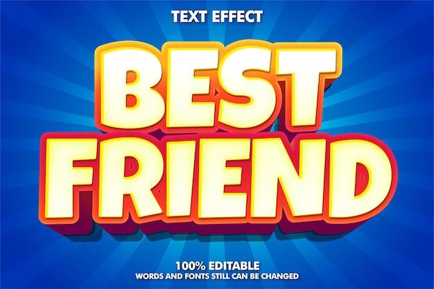 Migliore amico, effetto di testo scarabocchio