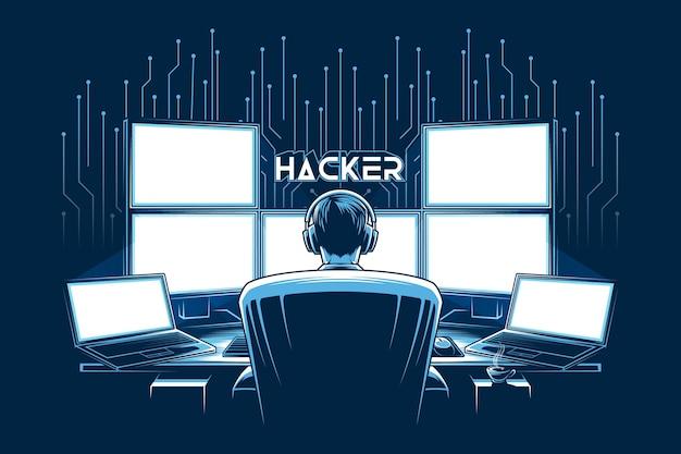 La migliore illustrazione di hacker