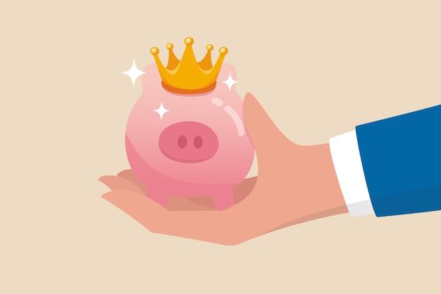 Miglior fondo pensione di investimento o stock picking affare con risparmio di deposito di sicurezza ad alto rendimento per il concetto di pensione