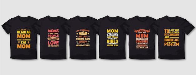 Miglior design della maglietta della tipografia della madre
