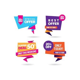 Migliore raccolta di vendita di banner promozione offerta