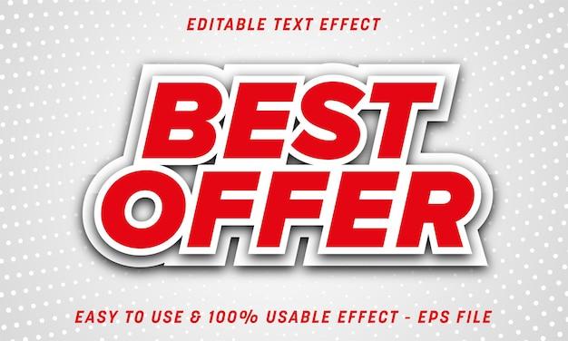 Migliore offerta effetto testo modificabile