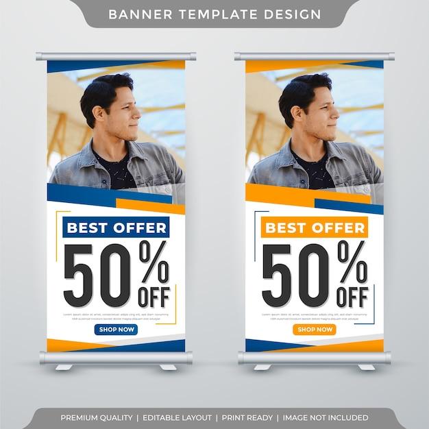 Modello di banner stand migliore offerta