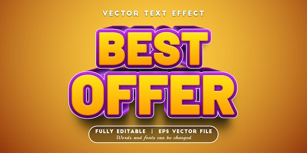 Miglior effetto di testo dell'offerta, stile di testo modificabile