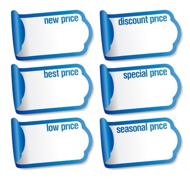 Miglior prezzo adesivi impostati mockup