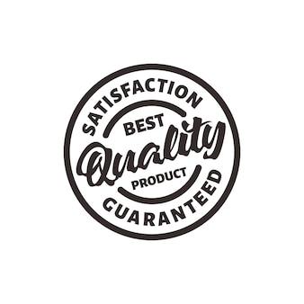 Timbro del prodotto di migliore qualità e soddisfazione garantita