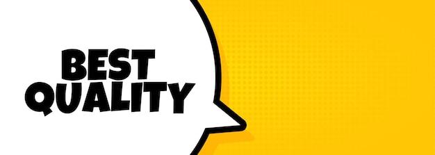 Migliore qualità. banner a fumetto con testo di migliore qualità. altoparlante. per affari, marketing e pubblicità. vettore su sfondo isolato. env 10.
