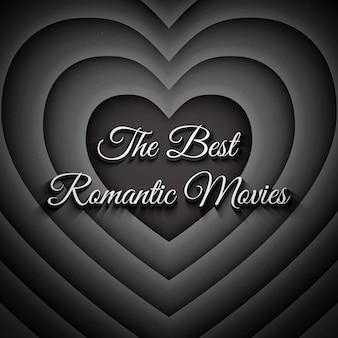 I migliori film romantici sfondo vintage Vettore Premium