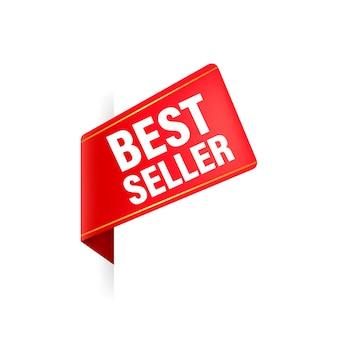 Best seller nastro rosso. illustrazione.