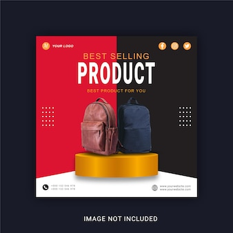 Modello di post sui social media per banner di instagram prodotto più venduto