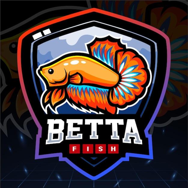 Betta pesce esport logo design