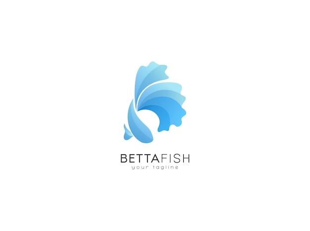 Modello di progettazione del logo del pesce betta