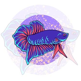 Mascotte di pesce betta