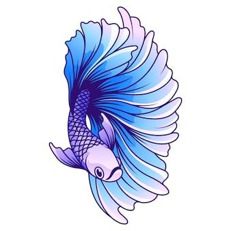 Illustrazione vettoriale di pesce betta