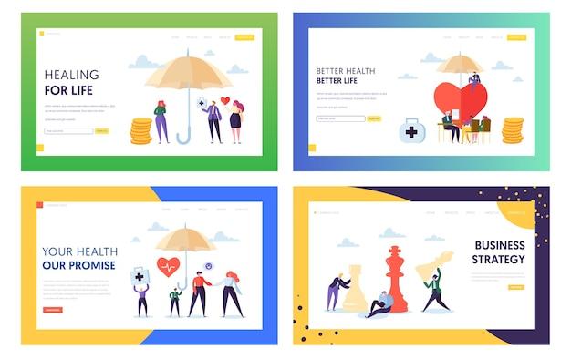 Set di pagine di destinazione better health for life.