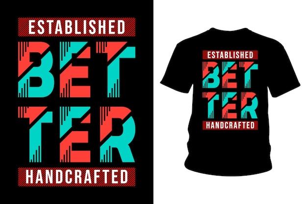 Migliore disegno di tipografia della maglietta astratta del testo