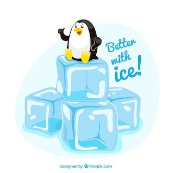 Meglio con ghiaccio! Vettore Premium