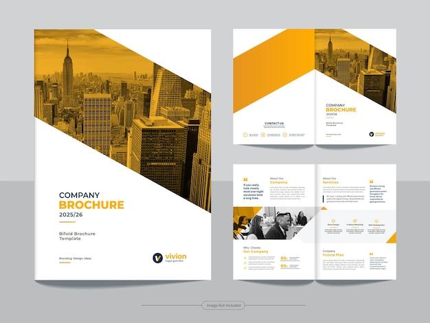 Modello di brochure bi fold per affari aziendali