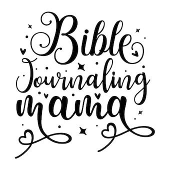 Diario biblico mamma elemento tipografico unico design vettoriale premium