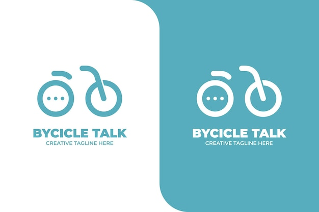 Logo dell'app bicycle bubble chat messenger