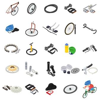 Set di icone del club di biciclette Vettore Premium