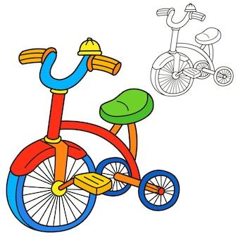 Bicicletta. pagina del libro da colorare